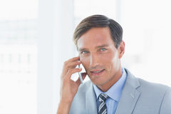 Business man having phone call Stock Photography