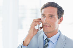 Business man having phone call Royalty Free Stock Image