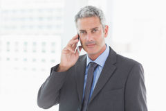 Business man having phone call Royalty Free Stock Photo