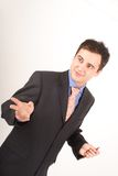 Business man having presentation Stock Images