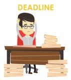 Business man having problem with deadline. Stock Photo