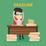 Business man having problem with deadline. Stock Photography