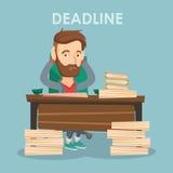 Business man having problem with deadline. Stock Image