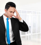 Business man having stress Royalty Free Stock Images