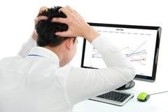 Business man having stress Stock Photos