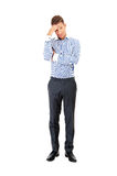 Business man having a stress. Headache Royalty Free Stock Images