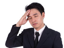Business man having stress or a headache Royalty Free Stock Photos