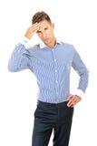 Business man having a stress. Headache. Stock Photography