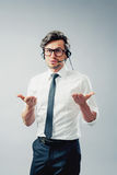 Business man with head-set Stock Photo