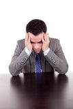 Business man with headache Royalty Free Stock Image