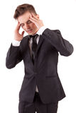 Business man with headache Stock Photos
