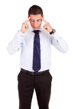 Business man with headache Royalty Free Stock Photo