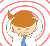 Business man headache and confusing. Cartoon character of business man headache and confusing Stock Photos