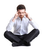 Business man with a headache Royalty Free Stock Image