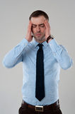 Business man headache Royalty Free Stock Photography