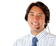 Business man with a headset Royalty Free Stock Photos