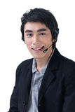 Business man with headset Stock Photos
