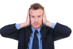 Business man hears no evil Stock Images