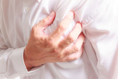 Business man heart attack Stock Photography