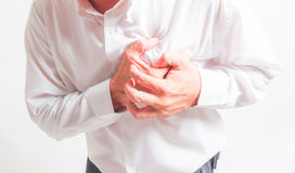 Business man heart attack Stock Photos