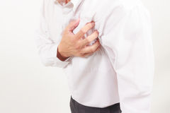 Business man heart attack Stock Photo