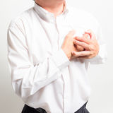 Business man heart attack Royalty Free Stock Images