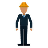 Business man helmet contruction manager Royalty Free Stock Photo