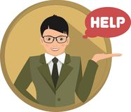 Business man help Royalty Free Stock Photography
