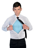 Business man hero concept Royalty Free Stock Photo