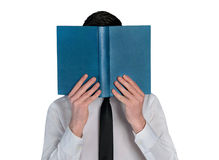 Business man hide reading book Stock Photography