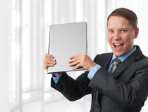 Business man with his laptop Stock Photo