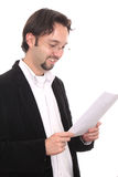 Business man with his notepad Royalty Free Stock Photo