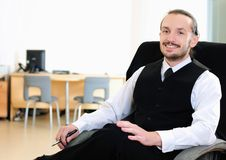Business man in his office Stock Photography