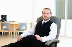 Business man in his office Royalty Free Stock Photos