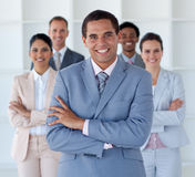 Business man with his team Royalty Free Stock Photos