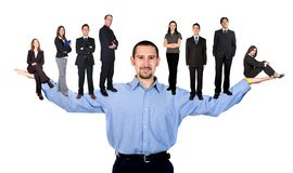 Business man and his team Royalty Free Stock Image