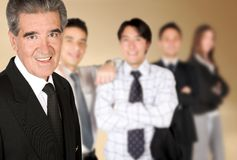 Business man and his team Stock Photos
