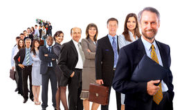 Business man and his team Stock Photo