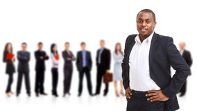 Business man and his team Royalty Free Stock Images