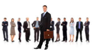 Business man and his team Royalty Free Stock Photography