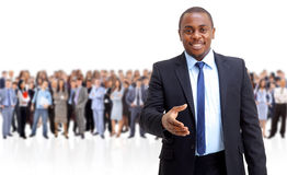 Business man and his team Royalty Free Stock Photos