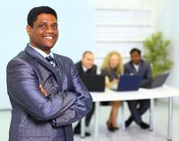 Business man and his team Stock Images