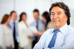 Business man with his team Royalty Free Stock Photography