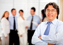 Business man with his team Stock Photography