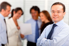 Business man with his team Royalty Free Stock Image