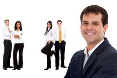 Business man and his team Stock Image