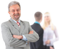 Business man and his team isolated Stock Photos