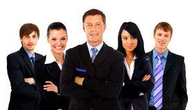 Business man and his team isolated Stock Images