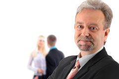 Business man and his team isolated Royalty Free Stock Image