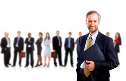 Business man and his team isolated Stock Photography